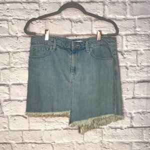 Vintage Guess Uneven Hem Jean Skirt